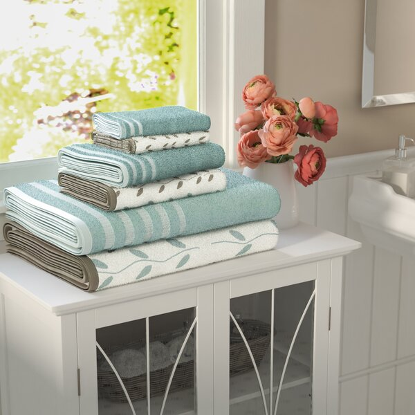 Hodapp 6 Piece 100% Cotton Towel Set by Three Posts